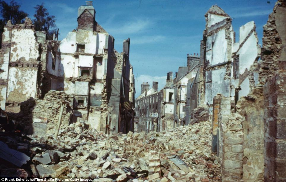 A destroyed town in northwest France, the Normandy landings have been called the beginning of the end of war in Europe