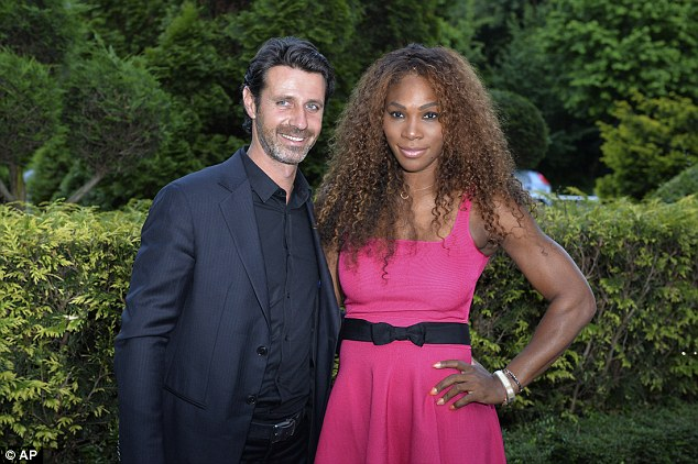 Serena Williams became romantically involved with her white tennis coach, Patrick Mouratoglu, last year, after previously stating she 'only dates black men'