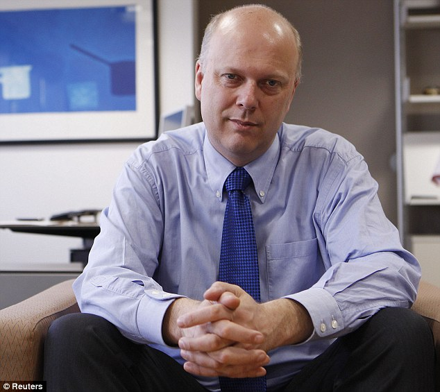Pressing ahead: Justice Secretary Chris Grayling's plans could cost an estimated 10,000 jobs