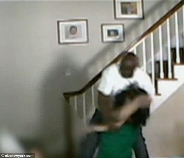 Deeply shaken: The young mother was tossed around ruthlessly, and beaten and kicked over and over as her infant son slept upstairs and cartoons played on the television