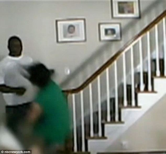 Otherwise quiet: A home invader in Millburn, New Jersey savagely beat a mother as her daughter, 3, watched and the footage was all caught on nanny cam Friday morning