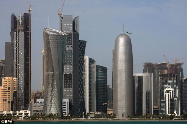 Power: A view of the skyline of Doha, Qatar's capital, is a symbol for how the country has rising to be one of the most influential and wealthy countries in the Middle East