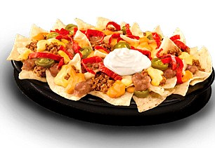 Taco Bell's volcanic nachos contain 970 calories