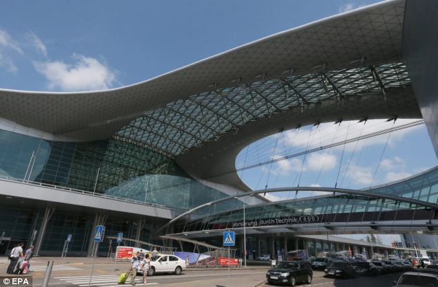 Hideout: He is in the transit area of Sheremetievo airport in Moscow after flying from Hong Kong on Sunday