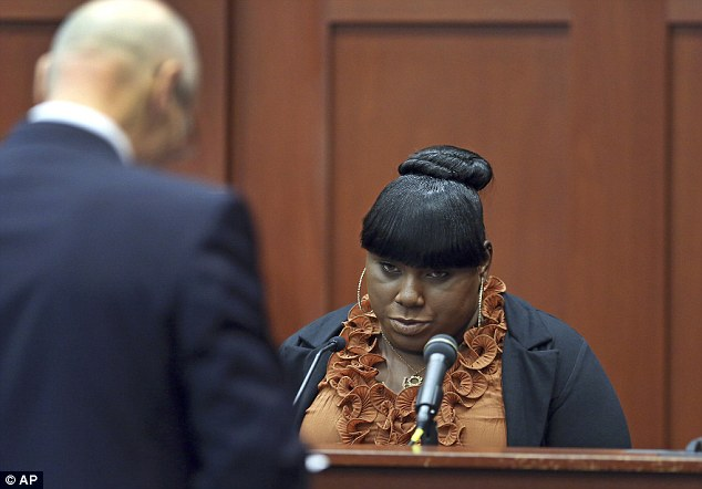 Hostile: Witness Rachel Jeantel, right, continues her testimony to defense attorney Don West on day four of George Zimmerman's trial in Seminole circuit court in Sanford