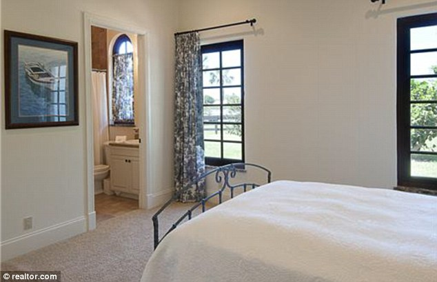 Peaceful: The ensuite bedrooms look over the green acres surrounding the Wellington home