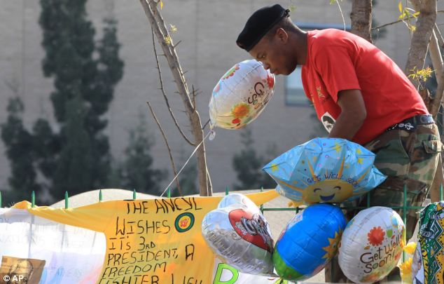 Troubled: South Africa is said to be on the brink of a national crisis as Nelson Mandela's health deteriorates