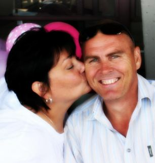 Slaughtered: Roelof du Plessis, 46, was shot dead in front of his wife Laura, 44 and son on their farm near Pretoria