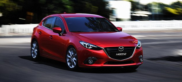 The Mazda 3 is is powered by a new, superfrugal 99bhp 1.5-litre Skyactiv-G petrol engine that takes it from rest to 62 mph in 10.8 seconds