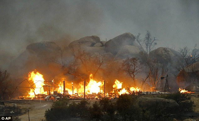 Tragedy: The crew deployed emergency fire shelters to try to protect them from the blaze