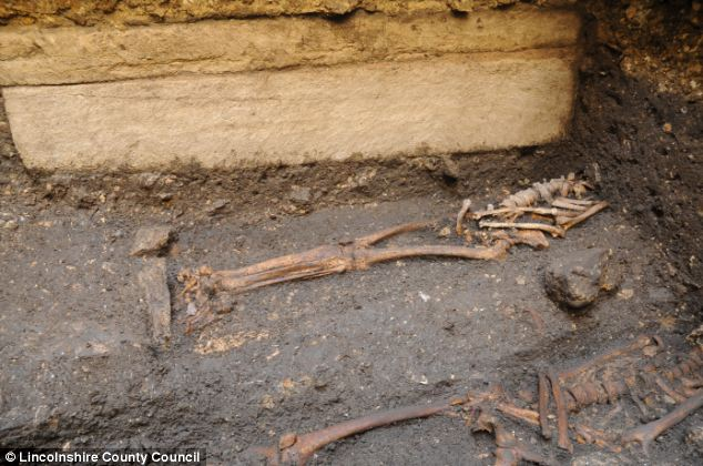 A skeleton found buried inside a stone coffin below Lincoln Castle could belong to a Saxon king or a bishop dating back to around 900AD, according to archaeologists.