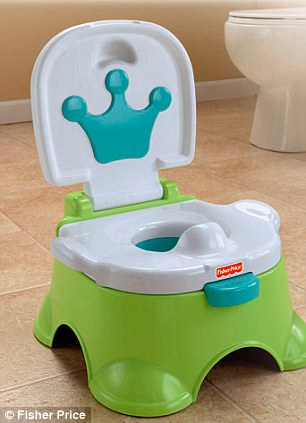 Cashing in? A 'royal' potty from Fisher Price and a dummy and clip by Elodie Details featuring crowns