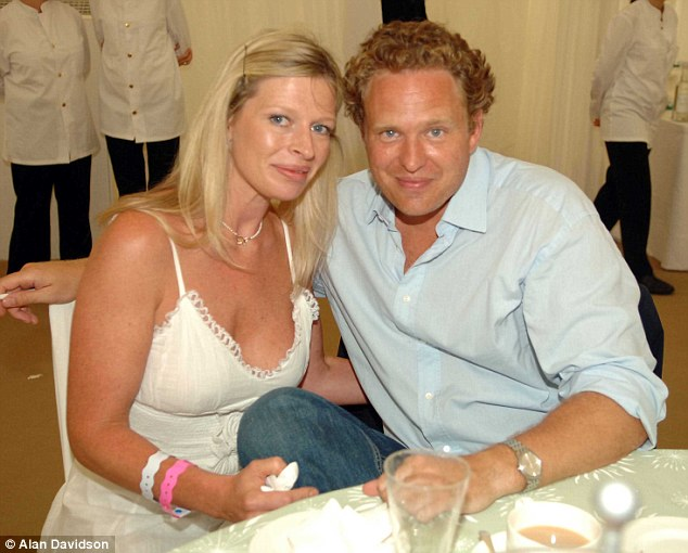 Heartbreaking: Charlotte and her long-term partner Alex Smith at the Cartier International Polo in 2006