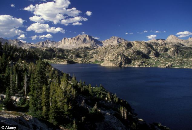 Mr Udall is an experienced backpacker and has hiked in Wind River Range, Wyoming (pictured) before