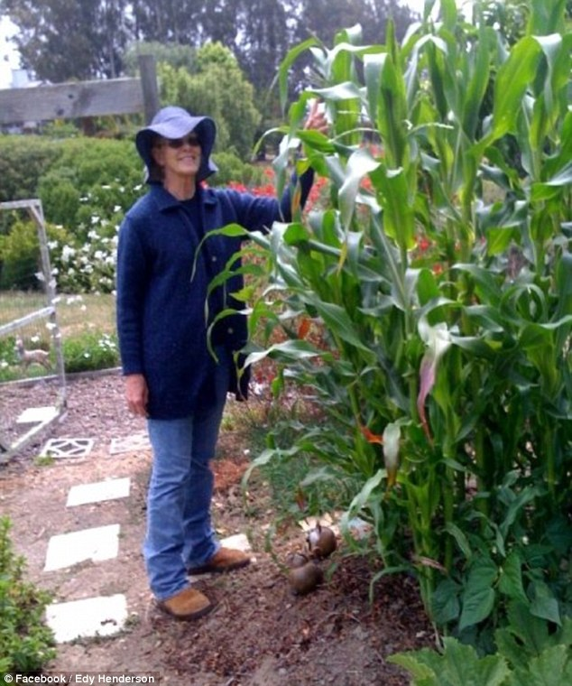 Tragic: Edy Henderson, pictured, was proud of her garden