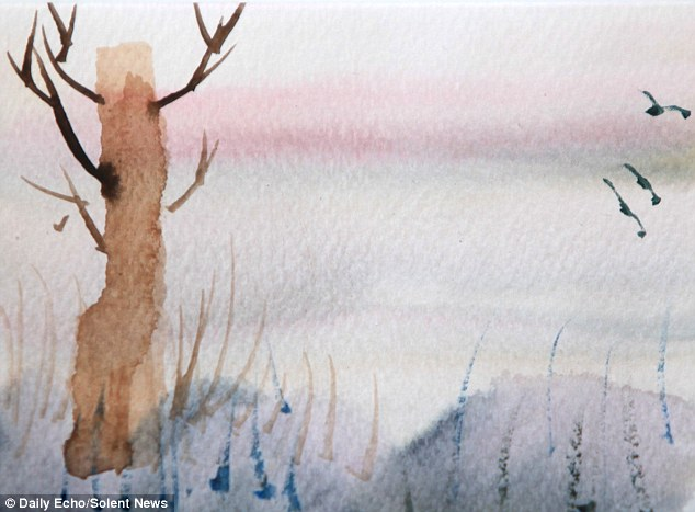 Just six weeks ago, she picked up a paintbrush to start using watercolours and has barely stopped creating beautiful landscapes ever since