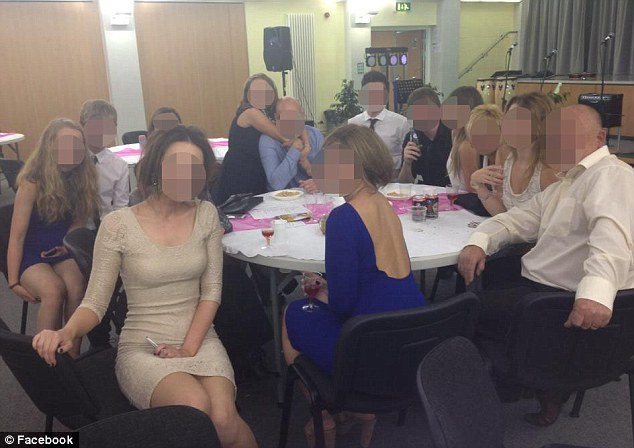 School spirit: Pupils in Washington, Tyne and Wear, have posted pictures on Facebook that appear to show them drinking with teachers, along with messages bragging about being drunk, at a school concert