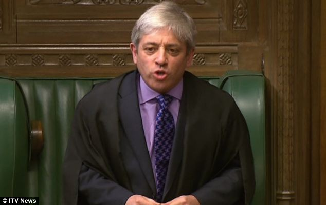 Rows: There is growing anger in the Commons at Mr Bercow's treatment of MPs and ministers, including several outbursts this week