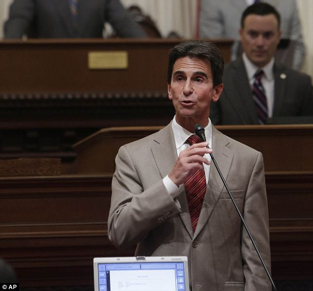 Support: State Sen. Mark Leno, D-San Francisco, urges the passage of a bill regarding transgender students at the state Capitol in Sacramento, July 3, 2013