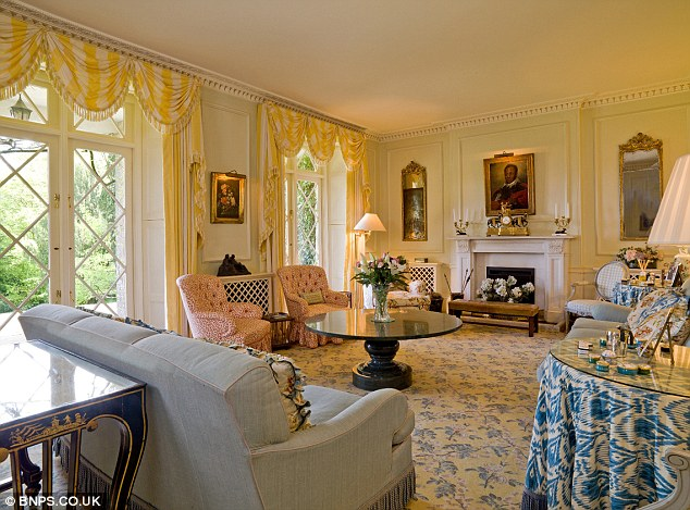 Grand: Minnie Churchill has lived in the 200-year-old property for the last 14 years