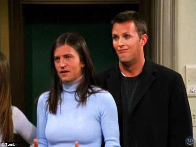Bizarre: Monica and Chandler from Friends are morphed into each other in this snap