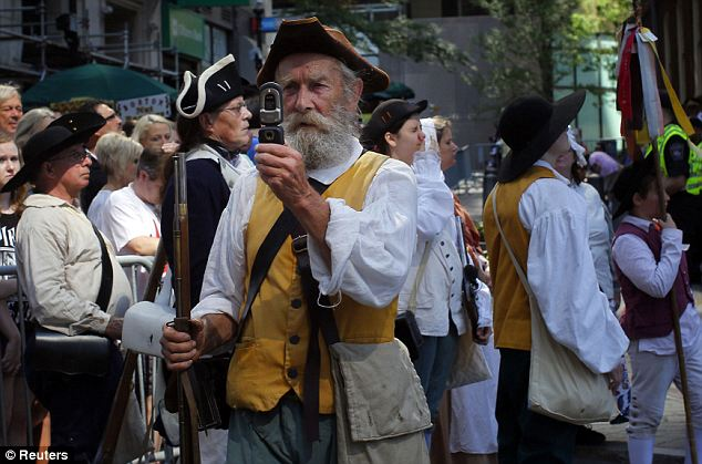 Time warp: A re-enactor has an anachronistic moment in Boston