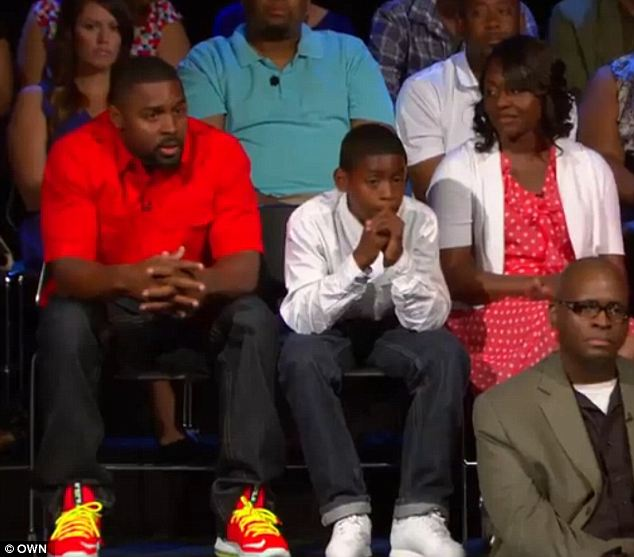 Final: Alongside his mother and a studio audience of Oprah fans, Aveion Jr, 13, told his father 'You don't get to leave me again!'