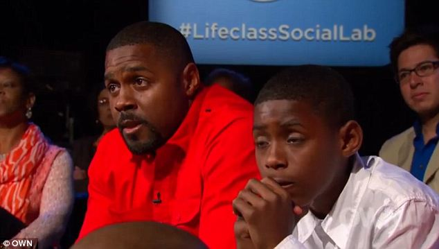 Amends: On an emotional episode of Oprah's Life Class, former pro-footballer Aveion Cason makes amends with his 13-year-old son after a 10-year estrangement