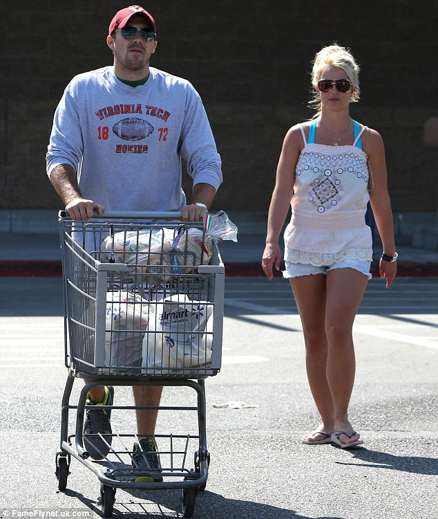 Low-key: The pair hit up Britney's favourite store, Walmart