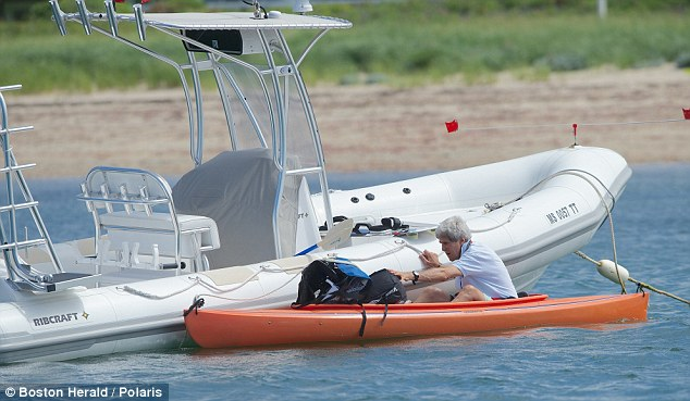 Retraction: John Kerry's spokesman was forced to retract her denial that the Secretary of State has been enjoying water sports during the Egyptian crisis