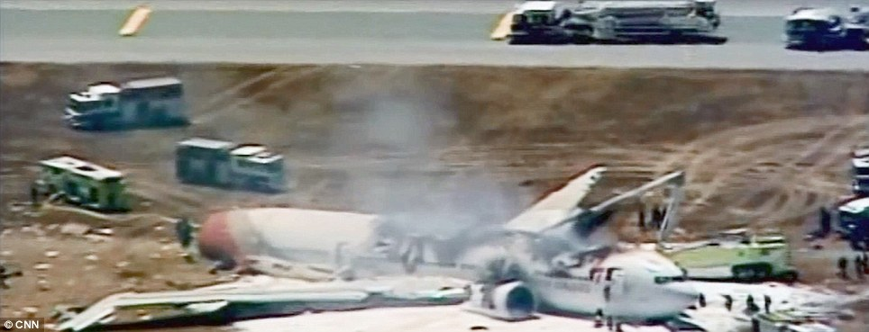 Landing: The plane failed to land safely and witnesses described watching the tail and then the wings being ripped off as it hurtled along the runway on its belly