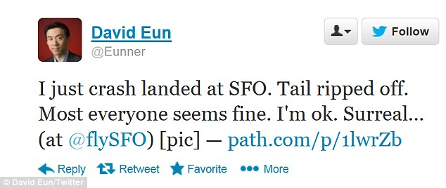 Survivor: David Eun was on board the Asiana Airlines 777 when it crash landed