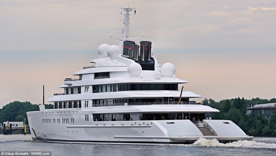 Majestic: Believed to have been pictured in the North Sea, the yacht was first unveiled back in April