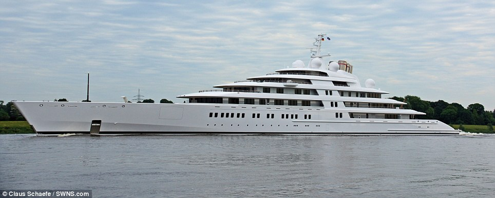 World beater: The yacht Azzam is 590 feet long and cost a staggering £400million