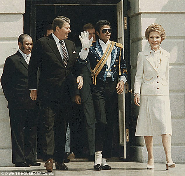 Official visit: Michael Jackson with President Reagan and First Lady Nancy at the White House in 1984