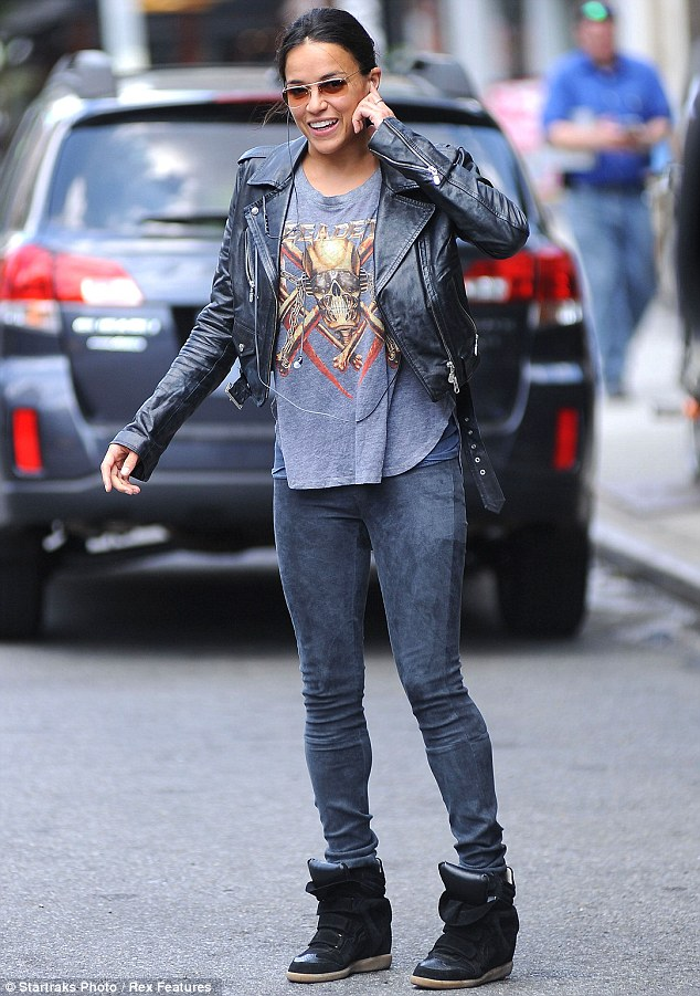 Michelle Rodriguez Ditches The Tough Girl Look To Go