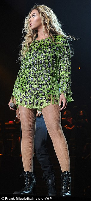 Singer Beyonce performs on her