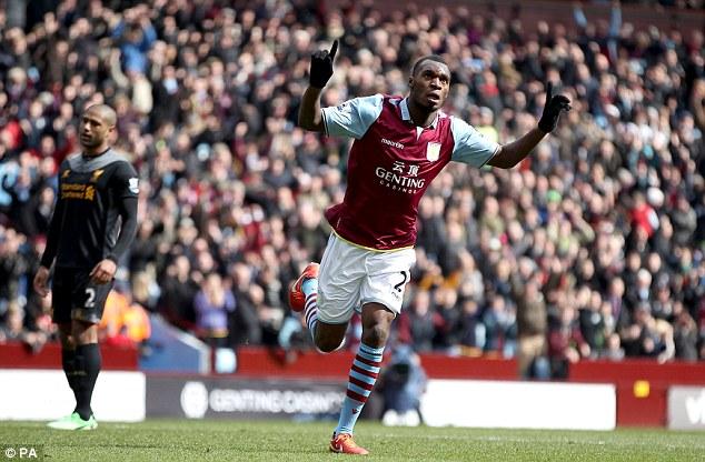 On his way: Benteke says he wants to leave Aston Villa