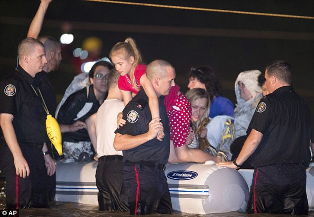 Dry land: More travelers are rescued from the overwhelmed train