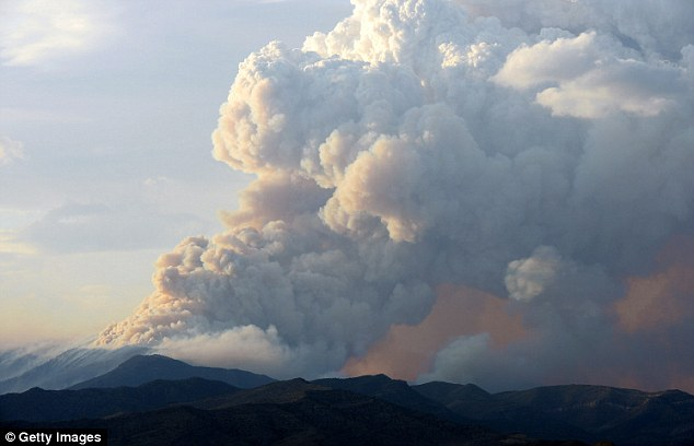 Warning: Officials have issued a health warning as large smoke clouds from the wildfire called Carpenter 1 surrounds Las Vegas