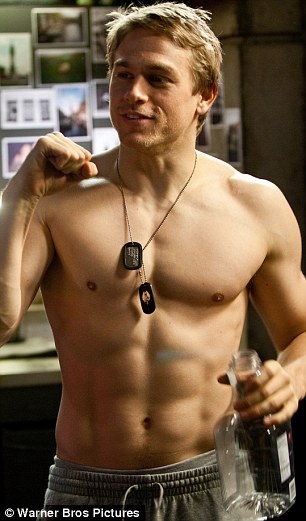 Heartthrob: It's not hard to see why Charlie Hunnam got the role of Raleigh Becket in the movie