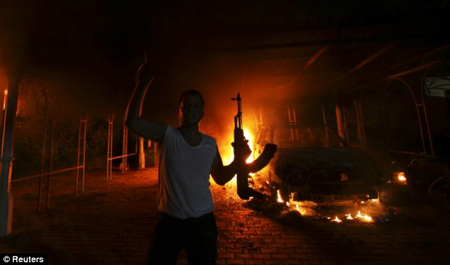 The U.S. Consulate in Benghazi, Libya was in flames during the military-style attack by terrorists in Sept. 2012. Congress continues to look for answers