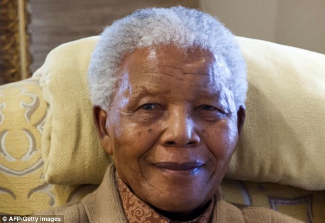 Poignant: Nelson Mandela, former South African President, once marked his name by a passage in Shakespeare's Julius Caesar about facing death without fear