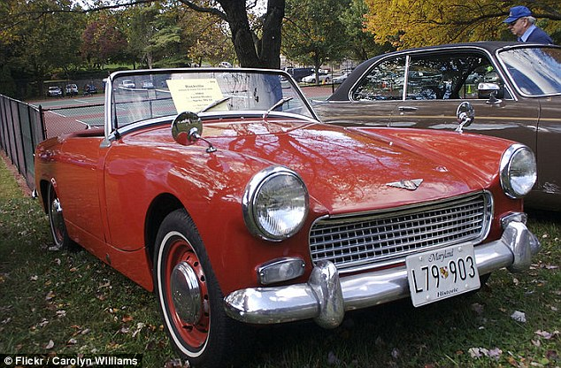 Classic: When it has been restored, the Austin Healey Sprite will look like this 1963 model