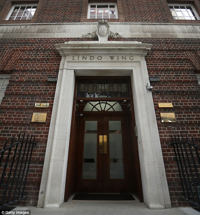 The birth will take place in a private room in the recently refurbished Lindo Wing of St Mary's Hospital