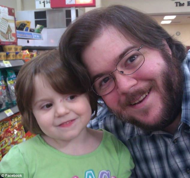'Father and daughter': Miles McDaniel, pictured, is named on Alanna's obituary as one of her parents