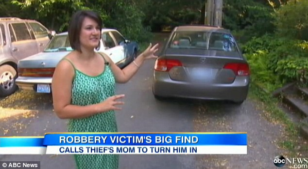 Disciplinarian: Eliza Webb, 29, discovered a cell phone inside her ransacked car last month, and instead of calling police, she decided to call the thief's mother