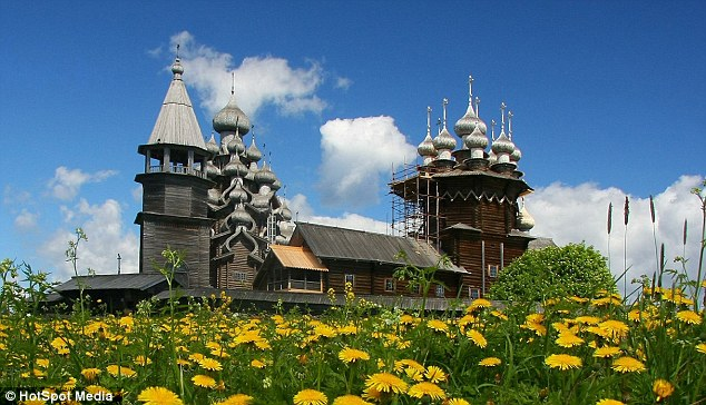 Idyllic: The stunning religious buildings are topped with 22 domes called cupolas