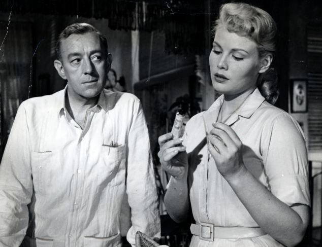 Alec Guinness starred in the film adaptation of Our Man in Havana with Jo Morrow