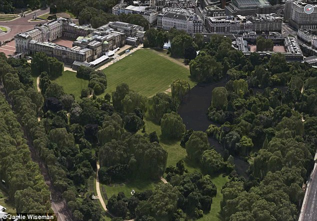 Mr Barzun's new London garden is second only in size to that of Buckingham palace (pictured)